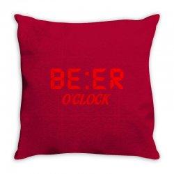 Beer O'clock Throw Pillow | Artistshot