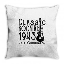 rocking since 1943 Throw Pillow | Artistshot