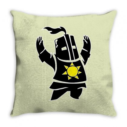 Dark Souls Solaire Throw Pillow Designed By Hbk