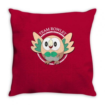Team Rowlet Throw Pillow Designed By Rardesign
