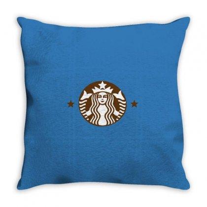 Starbucks Throw Pillow Designed By Sabriacar