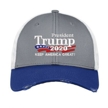 Trump 2020 Keep America Great Campaign Embroidered Hat Vintage Mesh Cap Designed By Madhatter