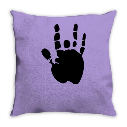 Black Grateful Dead Jerry Garcia Hand Throw Pillow Designed By Yudyud