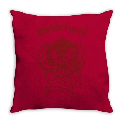 Motorhead Rock Band Throw Pillow Designed By Andini