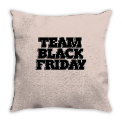 Team Black Friday Throw Pillow Designed By Kiva27