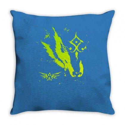Wolf Link Throw Pillow Designed By Mdk Art