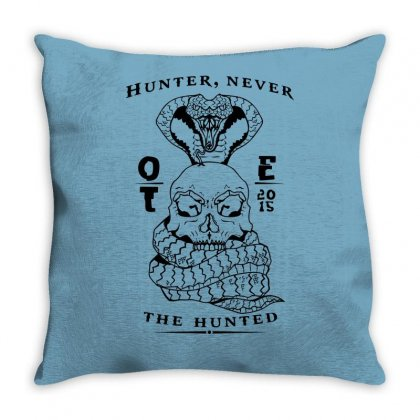 Ote Hunter Never The Hunter Throw Pillow Designed By Specstore