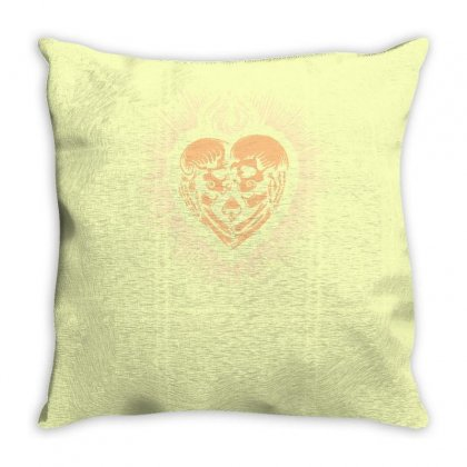 Sacred Heart Skull Lovers Throw Pillow Designed By Specstore