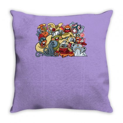 Animal Space Heroes Throw Pillow Designed By Specstore