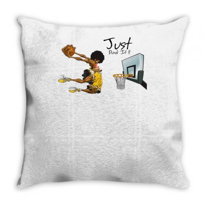 Just Dunk It Throw Pillow Designed By Specstore