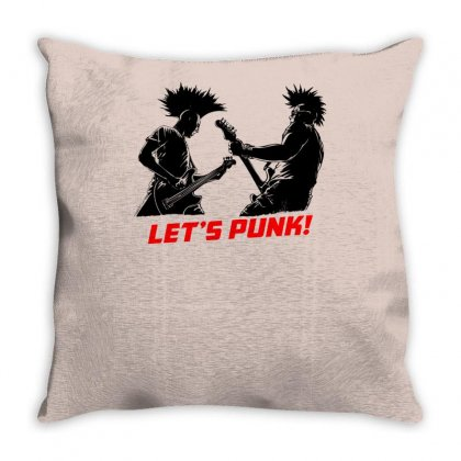 Lets Punk Throw Pillow Designed By Specstore