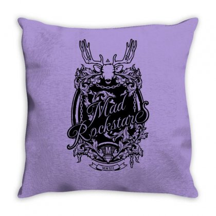 Mad Rockstar Myth Throw Pillow Designed By Specstore