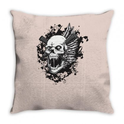 Sealed Vampire Skull Throw Pillow Designed By Specstore
