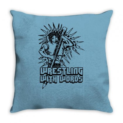 Wrestling With Words Throw Pillow Designed By Specstore