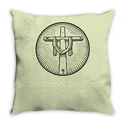 Easter Sunday Cross Throw Pillow Designed By Specstore