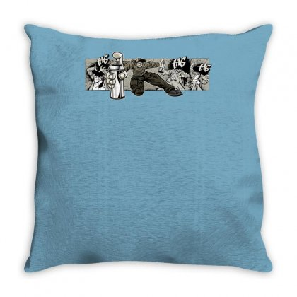 Graffiti Man Throw Pillow Designed By Specstore