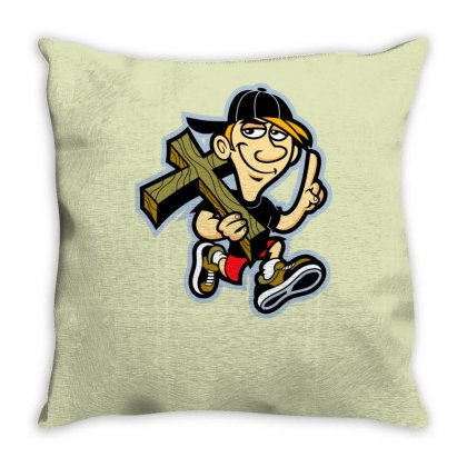 Hipster Easter Throw Pillow Designed By Specstore
