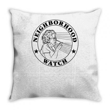 Neighborhood Watch Funny Throw Pillow Designed By Mdk Art