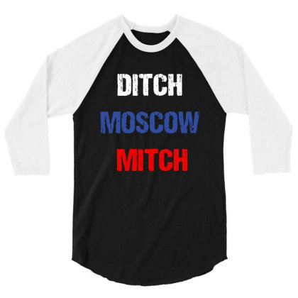 Kentucky Democrats Ditch Moscow Mitch Russian 3/4 Sleeve Shirt Designed By Pinkanzee