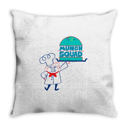 Munch Squad Throw Pillow Designed By Pinkanzee
