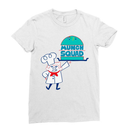 Munch Squad Ladies Fitted T-shirt Designed By Pinkanzee