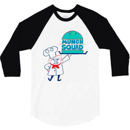 Munch Squad 3/4 Sleeve Shirt Designed By Pinkanzee