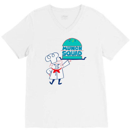 Munch Squad V-neck Tee Designed By Pinkanzee