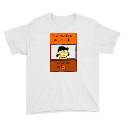 Lucy Van Pelt: The Doctor Is In Youth Tee Designed By Pop Cultured