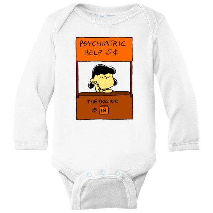 Lucy Van Pelt: The Doctor Is In Long Sleeve Baby Bodysuit Designed By Pop Cultured