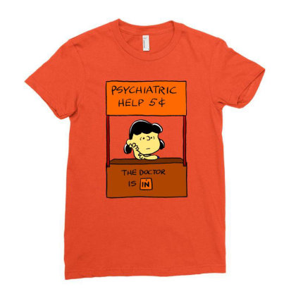 Lucy Van Pelt: The Doctor Is In Ladies Fitted T-shirt Designed By Pop Cultured