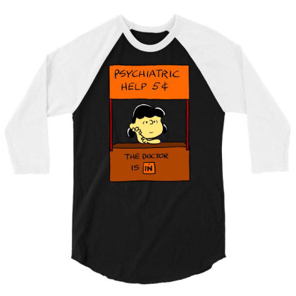 Lucy Van Pelt: The Doctor Is In 3/4 Sleeve Shirt Designed By Pop Cultured