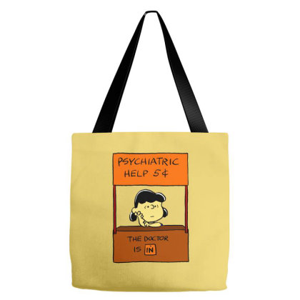 Lucy Van Pelt: The Doctor Is In Tote Bags Designed By Pop Cultured