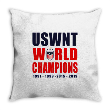 Uswnt 2019 Women's World Cup Champions Throw Pillow Designed By Pinkanzee