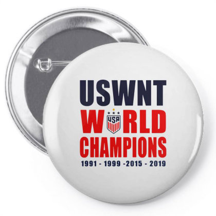Uswnt 2019 Women's World Cup Champions Pin-back Button Designed By Pinkanzee