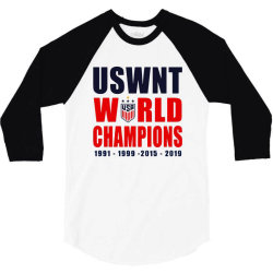 uswnt 2019 women's world cup champions 3/4 Sleeve Shirt | Artistshot