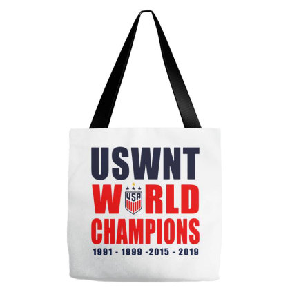 Uswnt 2019 Women's World Cup Champions Tote Bags Designed By Pinkanzee