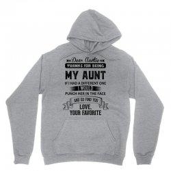 Dear Auntie, Thanks For Being My Aunt Unisex Hoodie | Artistshot