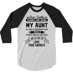 Dear Auntie, Thanks For Being My Aunt 3/4 Sleeve Shirt | Artistshot