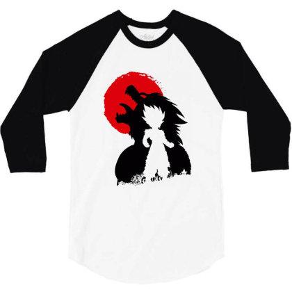 Awakening Of The Monster 3/4 Sleeve Shirt Designed By Cahyorin