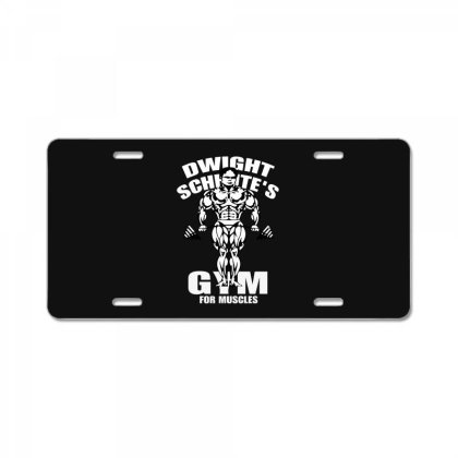 Dwight Schrute's Gym License Plate Designed By Pinkanzee