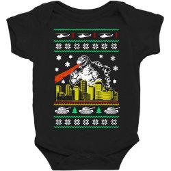 godzilla ugly christmas Baby Bodysuit | Artistshot