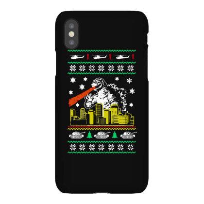 Godzilla Ugly Christmas Iphonex Case Designed By Ande Ande Lumut