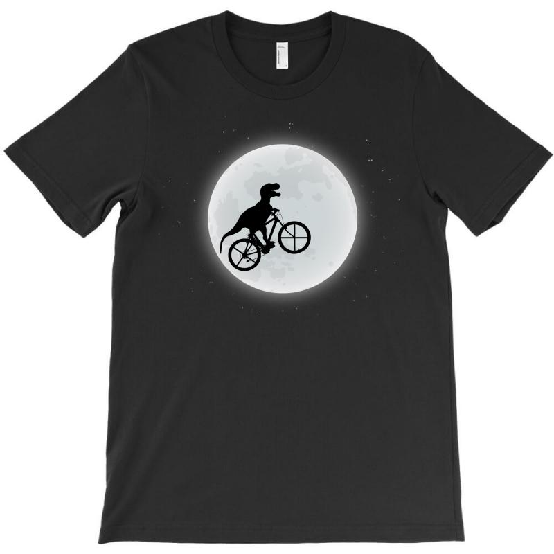 Dinosaur Riding A Bike To The Moon T-shirt | Artistshot