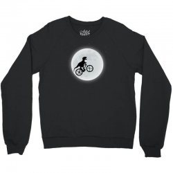 Dinosaur Riding A Bike To The Moon Crewneck Sweatshirt | Artistshot