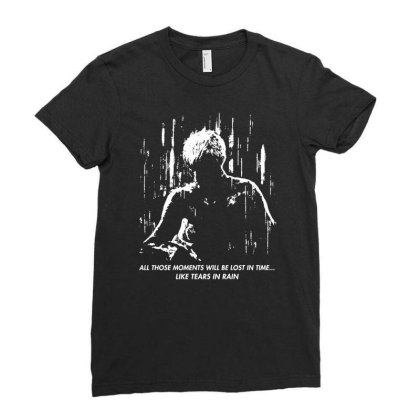 Runner Like Tears In Rain Ladies Fitted T-shirt Designed By Ande Ande Lumut