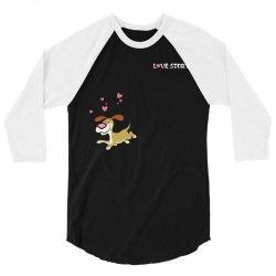 Dog (love story dog & bone) 3/4 Sleeve Shirt   Artistshot