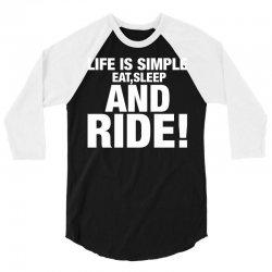 Eat Sleep Ride 3/4 Sleeve Shirt   Artistshot
