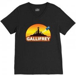 Gallifrey V-Neck Tee   Artistshot