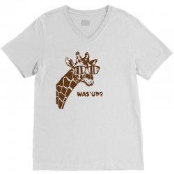 Giraffe Was Up V-Neck Tee   Artistshot