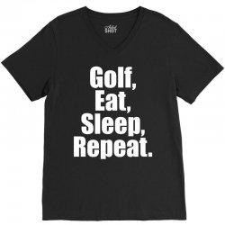 Golf Eat Sleep Repeat V-Neck Tee   Artistshot